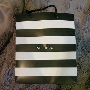 A sephora bag, a free panty with any VS purchase